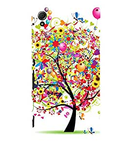 Colorful Tree 3D Hard Polycarbonate Designer Back Case Cover for Sony Xperia Z3+ :: Sony Xperia Z3 Plus