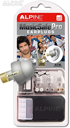 Alpine Hearing Protection - MusicSafe PRO Earplugs for Musicians - GREY (Alpine Hearing Protection Pro compare prices)