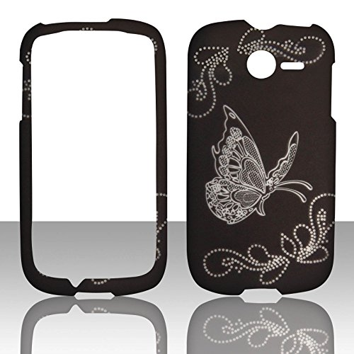 2d-butterfly-on-black-huawei-ascend-y-m866-tracfone-uscellular-case-cover-hard-phone-case-snap-on-co