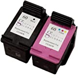 Sophia Global Remanufactured Ink Cartridge Replacement for HP 60 (1-Black, 1-Color)