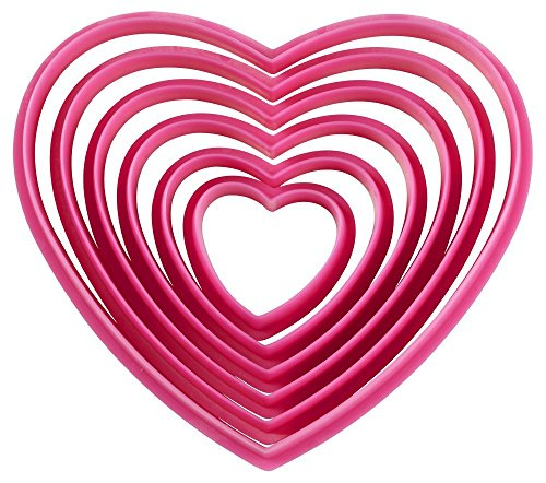 Wilton Plastic Nesting Cutter Set, Heart (Heart Cutters compare prices)