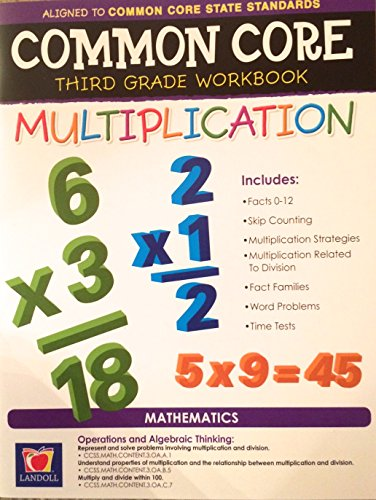 Common Core Multiplication Third Grade Workbook - 1