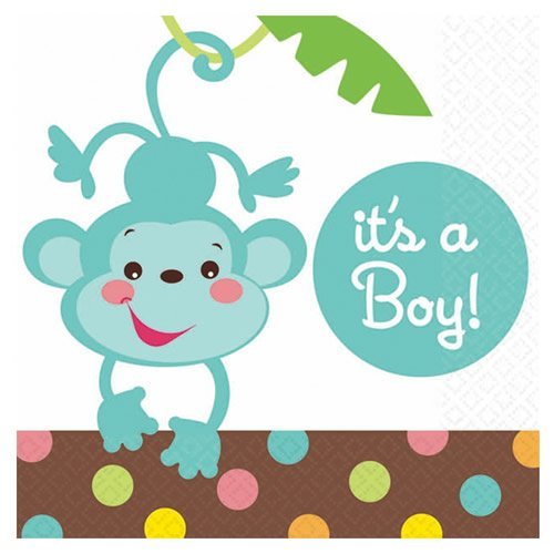 Fisher Price Baby Shower It'S A Boy Beverage Napkins front-672262