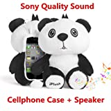 Authentic iPlush Plush Toy Multifunction Cellphone Case with Speaker (iPhone 5 5S 5C iTouch 5, Popy Panda)
