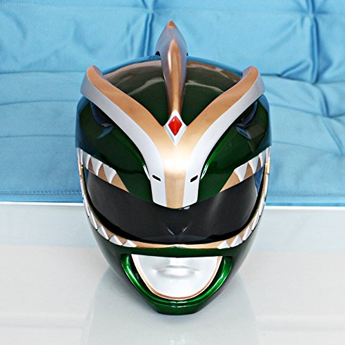1:1 Halloween Costume Mighty Morphin Power Ranger Helmet Mask Green PR16