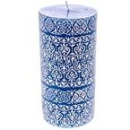 3x6 Unscented Patterned Pillar Candle