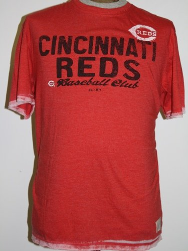 "Cincinnati Reds Majestic ""Scoring Streak"" Washed Red Burnout Premium T-shirt camicia"