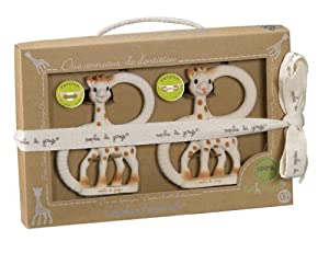 Sophie The Giraffe So Pure Duet of Teething Rings Soft and Very Soft Versions (White) Kids, Infant, Child, Baby Products