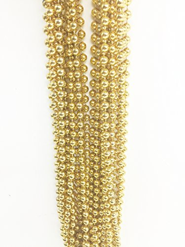 "GIFTEXPRESS 12 pcs 33"" Gold Bead Necklaces"