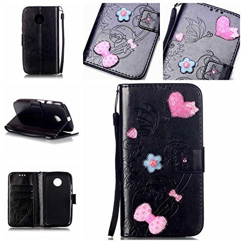 Cozy-Hut-HandyhlleLederhlle-Ledertasche-Hlle-Case-Cover-Etui-Tasche-fr-Motorola-Moto-E2-2Generation-Hlle-Mit-Diamant-Schmetterling-Muster-Schutzhlle-Handyhlle-Taschen-Schalen-Handy-Tasche-Flip-Wallet-