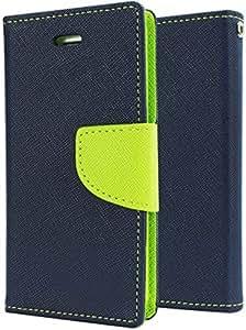 OM Synthetic Leather Mercury Flip Covers for Motorola Moto G4 Plus-Blue&Green