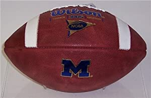 Michigan Wolverines Official Wilson NCAA Football by Hall of Fame Memorabilia