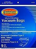 Envirocare Kenmore Mircrofiltration Canister Vacuum Bags - 50558, 5055, 50557 9pk