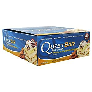 Quest Nutrition Protein Bar, Vanilla Almond Crunch, 2.12 Ounce, 12 Count