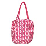 Rockflowerpaper Sea Horse Pink Bucket Bag