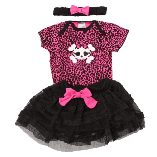 Andi Rose Girl Cute Romper+Tutu Skirt+Headband Outfits(12Month, Heart) front-598907
