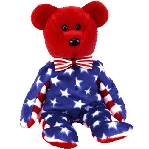Ty Beanie Babies Liberty - Bear Red (USA Exclusive) - 1