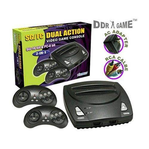Nes/Genesis Dual Action 2-In-1 Video Game System 16-Bit & Nes 8-Bit Games front-720613