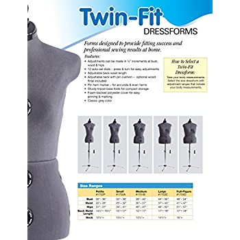 Dritz Twin-Fit Dress Form, Full Figure