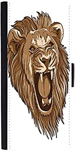 Snoogg Vector Liondesigner Protective Flip Case Cover For Samsung Galaxy Note 2