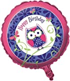Creative Converting Owl Pal Two Sided Mylar Foil Round Balloon