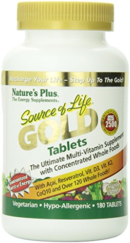 Nature's Plus - Source of Life Gold 180 Tablets