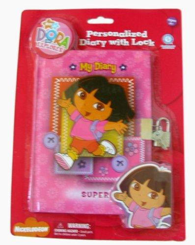 Dora The Explorer Diary - Dora personalized Diary w/ Lock by Viacom - 1