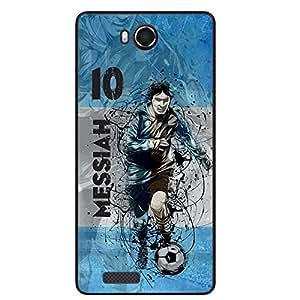 ezyPRNT Back Skin Sticker forIntex Aqua Star HD Lionel Messi Football Player
