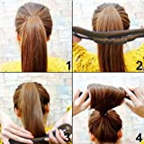 Shells 2 Pack Cloth Magic Clip French Twist Hairstyle Donut Bun Former Maker Hairstyle Must Haves Tool, Black Color