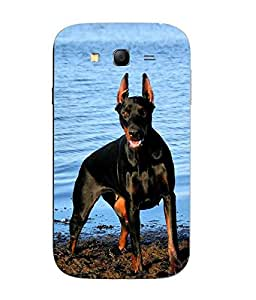 Make My Print Dog Printed Multicolor Hard Back Cover For Samsung Galaxy J1