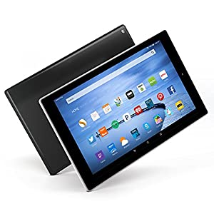 Tableta Fire HD 10, con pantalla HD de 10.1 pulgadas, Wi-Fi, de 16 GB, incluye ofertas especiales, color negro