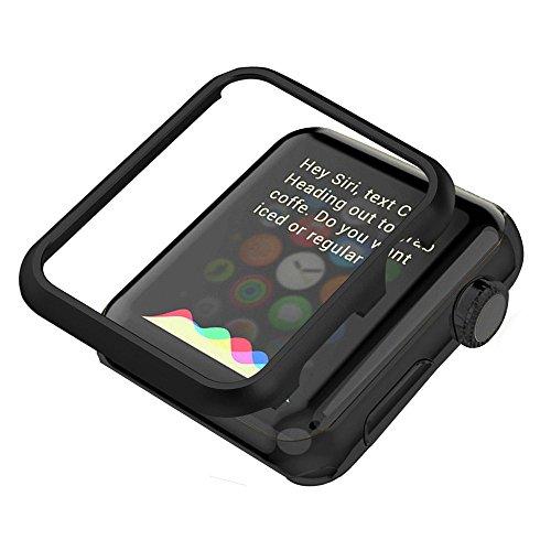 iWatch Coque Housse, Bandmax Antichocs Bumper Case Apple Watch Série 2/Série 1 Protection pour Apple Watch Antipoussière Adapté Toutes Éditions (Noir, 42 mm)