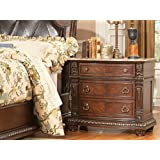 Palace Night Stand w/ Marble Top By Homelegance Furniture