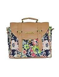 Crunchy Fashion Happy Women Floral Women'sSatchel Bag Multi-Coloured