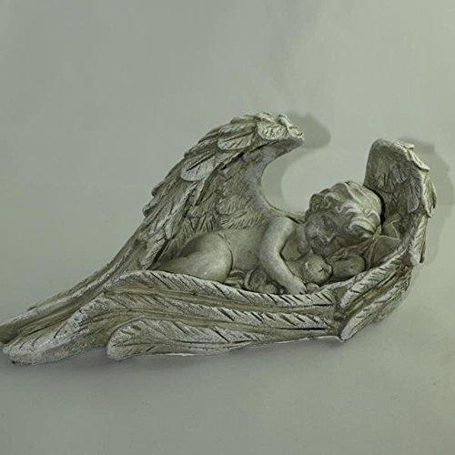 besch tzende engelfigur mit katze im arm f r die. Black Bedroom Furniture Sets. Home Design Ideas