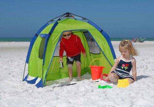 The ABO Gear Bambino Cabana Tent is a small cabana style sun-protective beach tent which creates a shady space for children and babies to rest and play in ... & What We Thought of the ABO Gear Bambino Cabana Tent