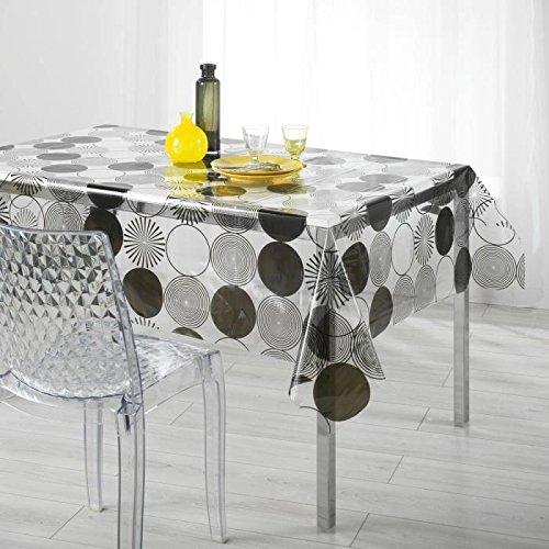 nappe de table transparente jusqu 50 pureshopping. Black Bedroom Furniture Sets. Home Design Ideas