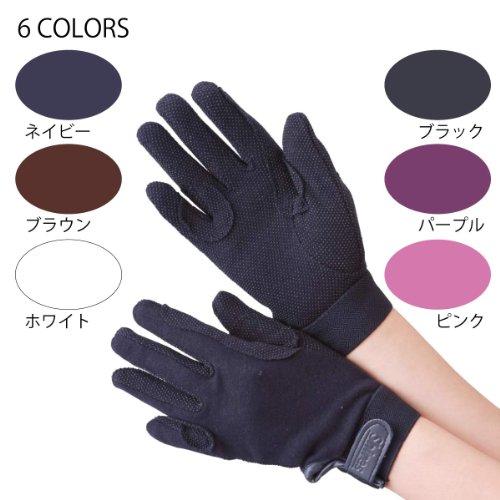 Shire horse cotton gloves black adult L [horseback riding equipment] [harness] [201312]