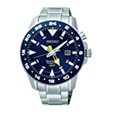 Seiko Men's Sportura, Kinetic, Stainless Steel, Blue Dial SUN017P1
