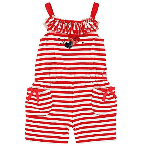 Baby Girls Red White Blue 4th of July Striped Sunsuit Dress Up Outfit
