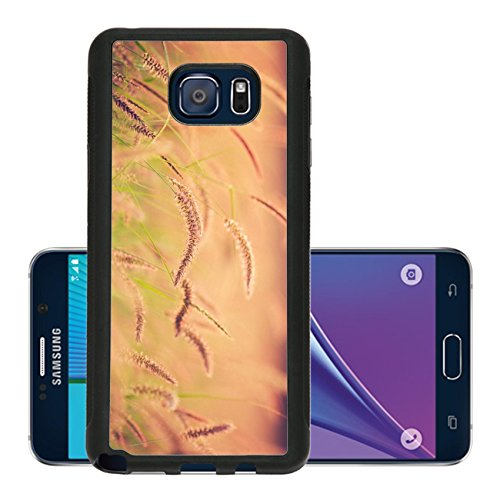Luxlady Premium Samsung Galaxy Note 5 Aluminum Backplate Bumper Snap Case IMAGE ID 26307792 Sunset Field Beautiful Vibrant Color Abstract Shallow Focus (Agricultural Corn Meal compare prices)