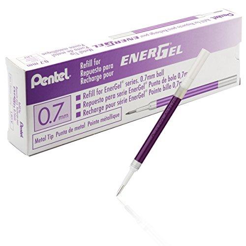 Pentel LR7-V Recharge encre gel Pointe métal 0,7 mm Violet