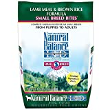 Dick Van Patten's Natural Balance Lid Brown Rice And Lamb Small Bite Dog Food, 4.5-Pound Bag
