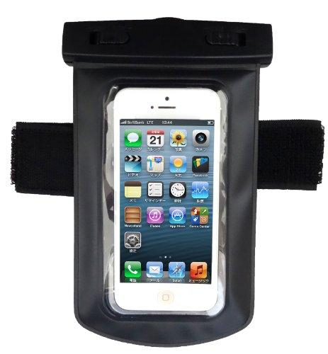 Axstyle 高品質 水深10M スタイリッシュ 防水ケース Waterproof case for iPhone5S/5,GALAXY S III,ARROWS,AQUOS Phone,Xperia アームバンド&ストラップ付属 防水保護等級IPx8 オリジナルモデル