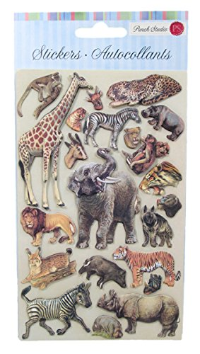 Punch Studio Exotic Safari Animal Dimensional Stickers - 63315 - 1
