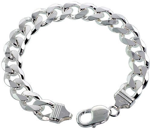 11mm Mens Real Solid 925 Sterling Silver Cuban Chain Curb Necklace