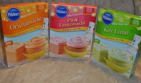 Pillsbury Moist Supreme Pink Lemonade, Key Lime and Orangesicle Cake Mixes