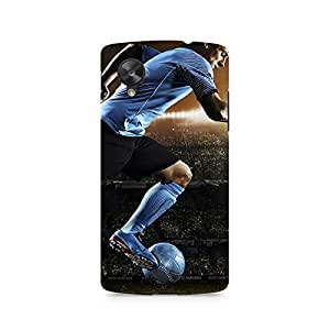 Motivatebox- Messi Flying Premium Printed Case For LG Nexus 5 -Matte Polycarbonate 3D Hard case Mobile Cell Phone Protective BACK CASE COVER. Hard Shockproof Scratch-