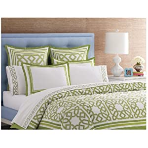 Jonathan Adler Parish Duvet Cover, Green, Full/Queen