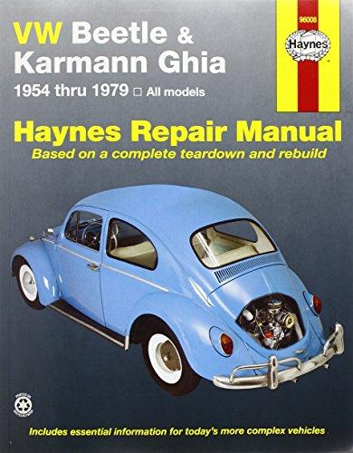 VW Beetle and Karmann Ghia (1954-79) Automotive Repair Manual (Haynes Automotive Repair Manuals)
